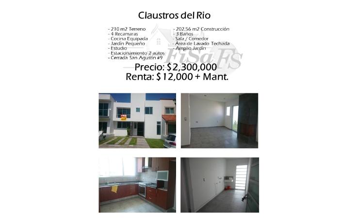 Foto de casa en venta en  , residencial claustros del río, san juan del río, querétaro, 1502467 No. 01