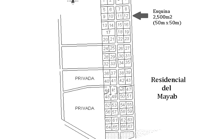 Foto de terreno habitacional en venta en  , residencial del mayab, mérida, yucatán, 1859466 No. 01