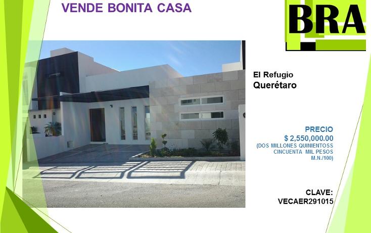 Foto de casa en venta en  , residencial el refugio, quer?taro, quer?taro, 1453081 No. 01
