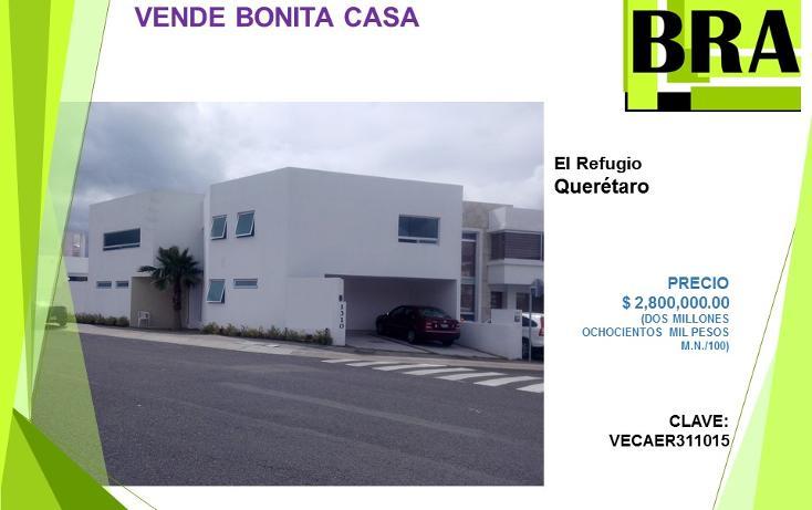 Foto de casa en venta en  , residencial el refugio, querétaro, querétaro, 1454771 No. 01