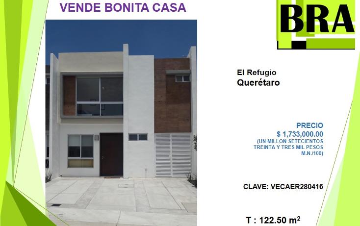 Foto de casa en venta en  , residencial el refugio, querétaro, querétaro, 1819148 No. 01