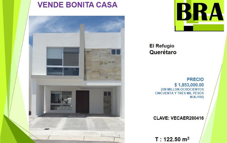 Foto de casa en venta en  , residencial el refugio, querétaro, querétaro, 1824752 No. 01