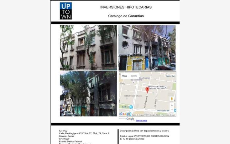 Foto de edificio en venta en revillagigedo 75, 75a, 77, 77a, 79, 81, santa fe centro ciudad, ?lvaro obreg?n, distrito federal, 1721376 No. 01