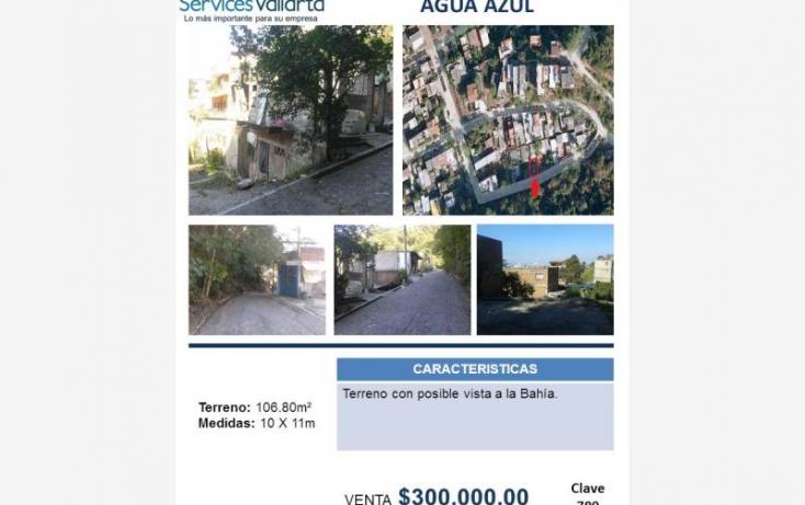 Foto de terreno habitacional en venta en rio santiago 25, agua azul, puerto vallarta, jalisco, 725467 no 01