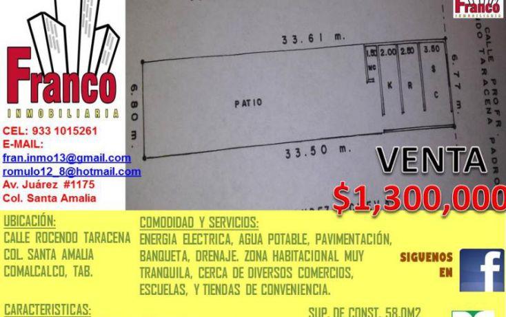 Foto de casa en venta en rocendo taracena padron, santa amalia, comalcalco, tabasco, 1616752 no 01