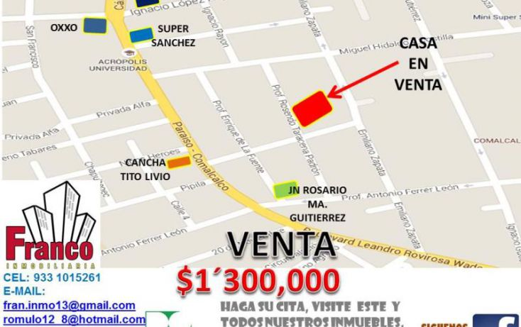 Foto de casa en venta en rocendo taracena padron, santa amalia, comalcalco, tabasco, 1616752 no 02