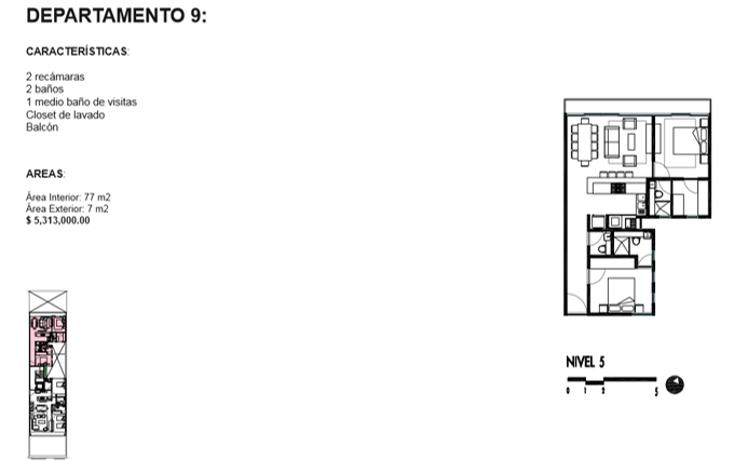 Foto de departamento en venta en  , roma norte, cuauhtémoc, distrito federal, 1834996 No. 14
