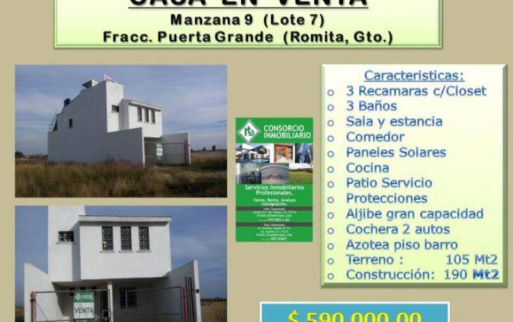Foto de casa en venta en, roma, romita, guanajuato, 1672624 no 01