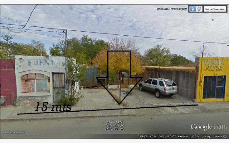 Foto de terreno habitacional en venta en rom?n cepeda 210, buenavista sur, piedras negras, coahuila de zaragoza, 881465 No. 01
