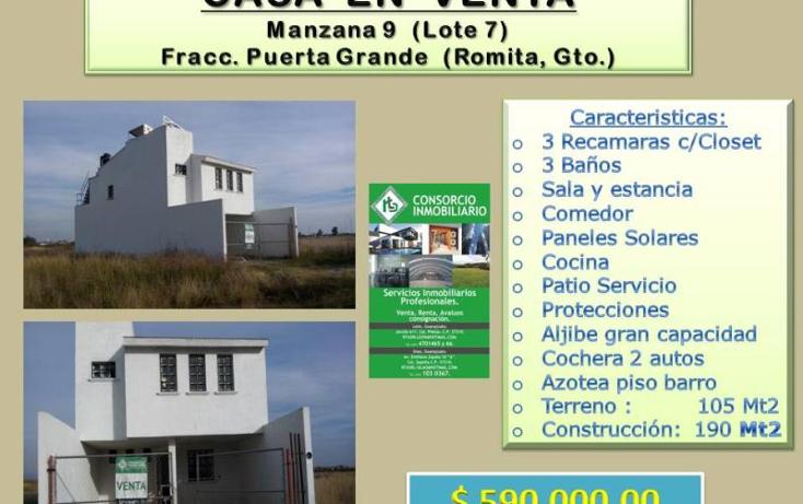 Foto de casa en venta en  , romita centro, romita, guanajuato, 1672624 No. 01