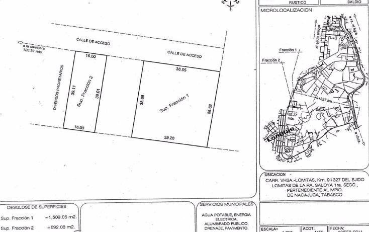 Foto de terreno comercial en venta en  , saloya 1a secc, nacajuca, tabasco, 1175819 No. 05