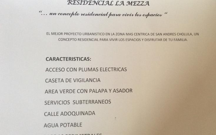 Foto de terreno habitacional en venta en  , san andrés cholula, san andrés cholula, puebla, 1724146 No. 04