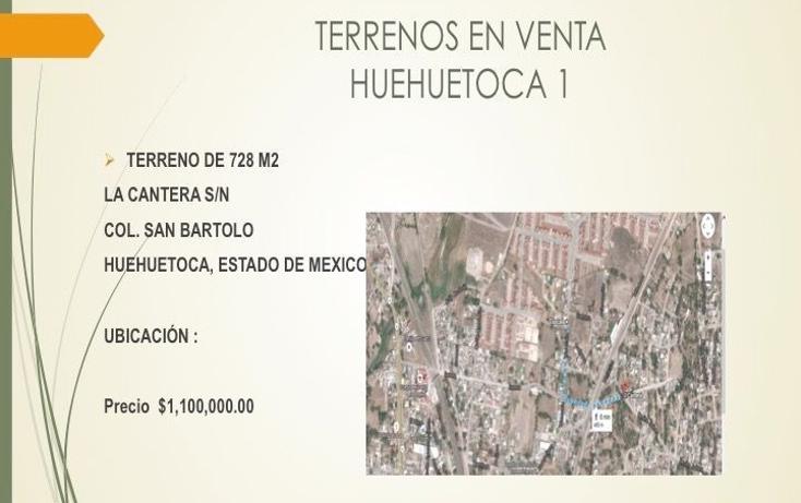 Foto de terreno habitacional en venta en  , san bartolo, huehuetoca, m?xico, 1549342 No. 01