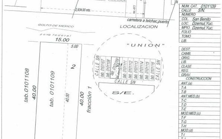 Foto de terreno habitacional en venta en  , san benito, ixil, yucatán, 2633052 No. 06
