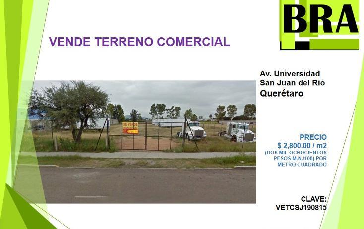 Foto de terreno comercial en venta en  , san cayetano, san juan del río, querétaro, 1830100 No. 01