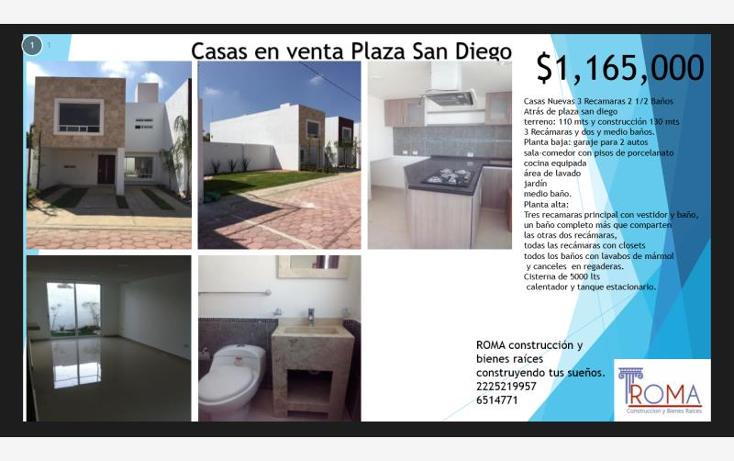 Foto de casa en venta en  , san diego, san andrés cholula, puebla, 1566956 No. 01