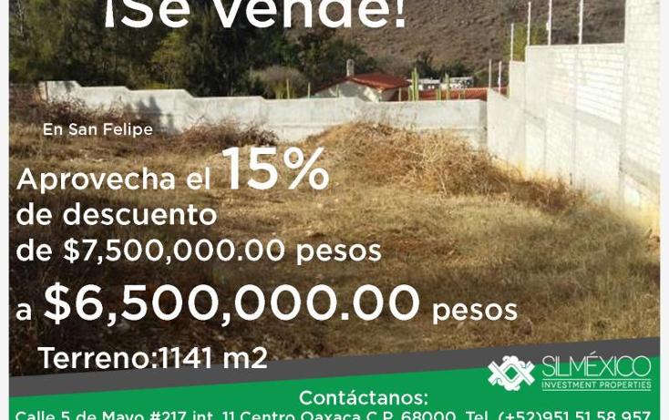 Foto de terreno habitacional en venta en  , san felipe del agua 1, oaxaca de juárez, oaxaca, 1593440 No. 01