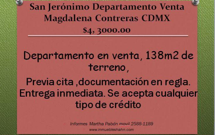 Foto de departamento en venta en, san jerónimo aculco, la magdalena contreras, df, 2042800 no 01
