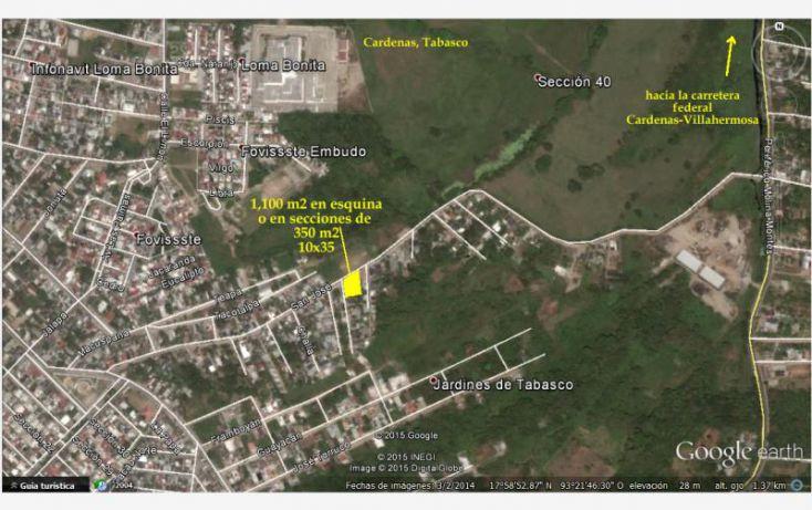 Foto de terreno habitacional en venta en san jose 116, el embudo fovissste, cárdenas, tabasco, 1527622 no 01
