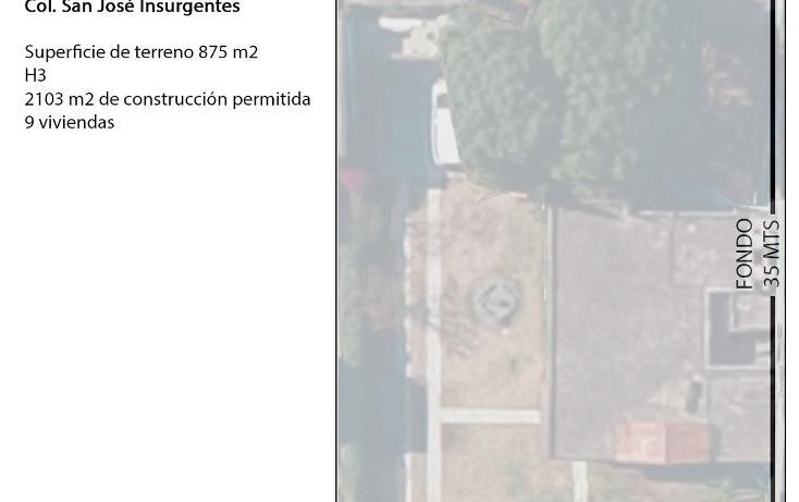 Foto de terreno habitacional en venta en  , san josé insurgentes, benito juárez, distrito federal, 2007140 No. 03