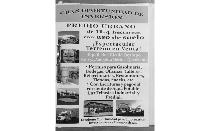Foto de terreno comercial en venta en  , san mateo buenavista, tepeji del río de ocampo, hidalgo, 1114863 No. 07