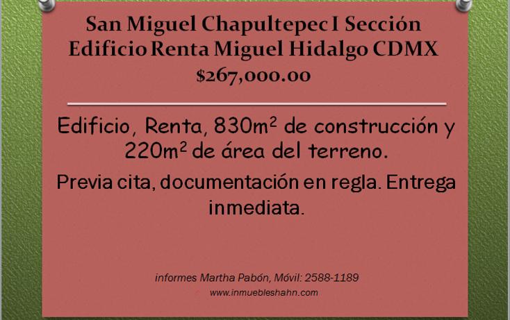 Foto de edificio en renta en  , san miguel chapultepec i sección, miguel hidalgo, distrito federal, 1270273 No. 01