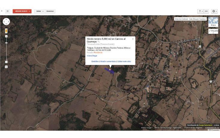 Foto de terreno habitacional en venta en  , san miguel topilejo, tlalpan, distrito federal, 1139097 No. 10