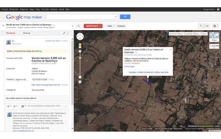 Foto de terreno habitacional en venta en  , san miguel topilejo, tlalpan, distrito federal, 1139097 No. 11