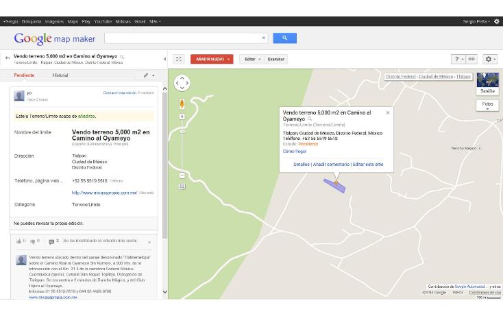 Foto de terreno habitacional en venta en  , san miguel topilejo, tlalpan, distrito federal, 1139097 No. 12