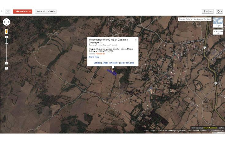 Foto de terreno habitacional en venta en  , san miguel topilejo, tlalpan, distrito federal, 1139097 No. 13
