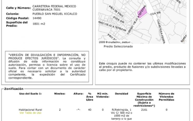 Foto de terreno habitacional en venta en, san miguel xicalco, tlalpan, df, 1412921 no 01