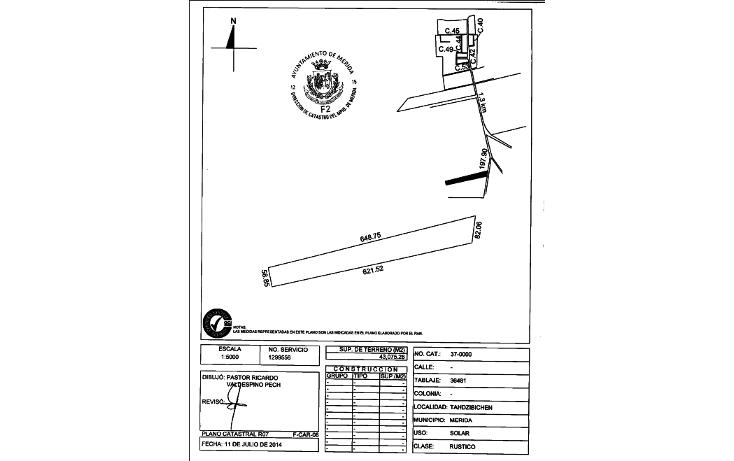 Foto de terreno habitacional en venta en  , san pedro chimay, mérida, yucatán, 1157651 No. 02