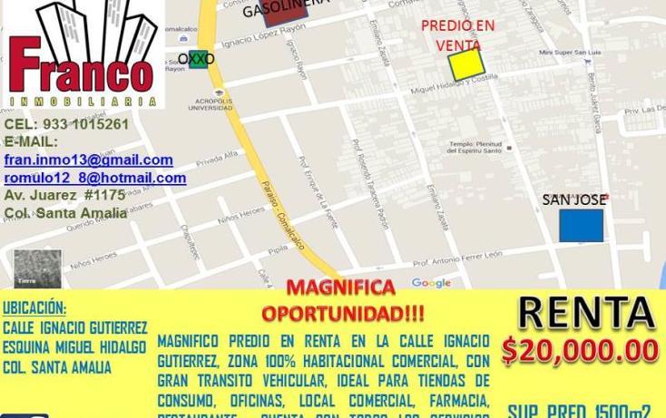 Foto de terreno comercial en renta en  , santa amalia, comalcalco, tabasco, 1735222 No. 01