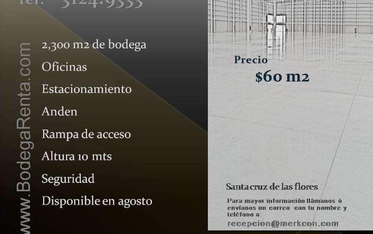 Foto de bodega en renta en  , santa cruz de las flores, tlajomulco de zúñiga, jalisco, 1808150 No. 01