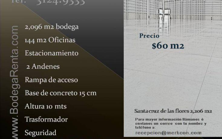 Foto de bodega en renta en, santa cruz de las flores, tlajomulco de zúñiga, jalisco, 1812642 no 01