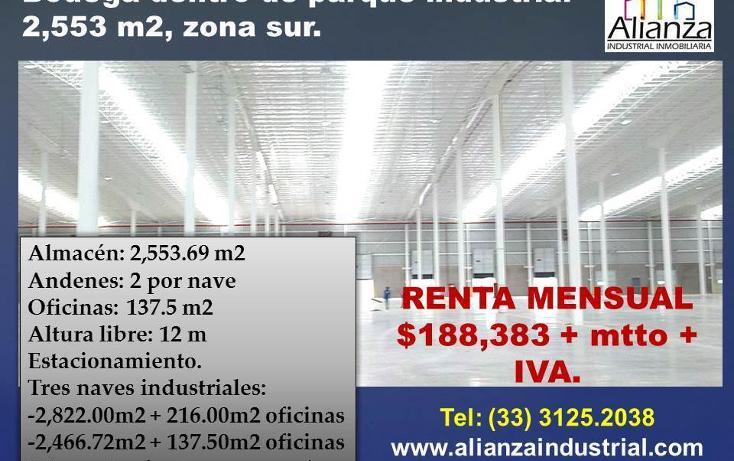 Foto de nave industrial en renta en  , santa cruz de las flores, tlajomulco de zúñiga, jalisco, 3414743 No. 01