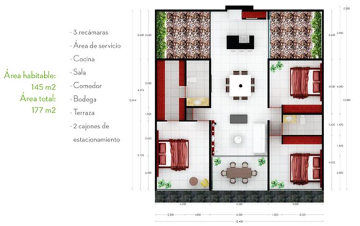 Foto de departamento en venta en  , santa gertrudis copo, mérida, yucatán, 1064449 No. 10