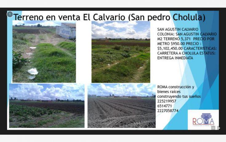 Foto de terreno habitacional en venta en, santa maría cuaco, san andrés cholula, puebla, 1439455 no 01