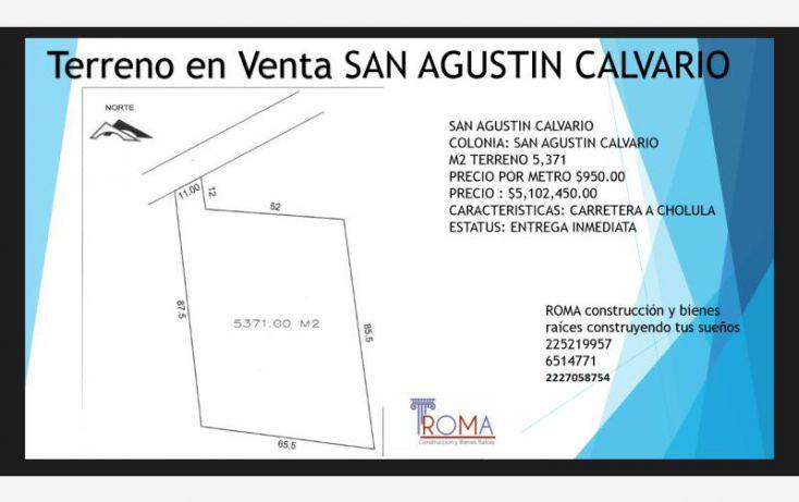 Foto de terreno habitacional en venta en, santa maría cuaco, san andrés cholula, puebla, 1439455 no 02