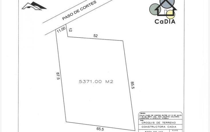 Foto de terreno habitacional en venta en, santa maría cuaco, san andrés cholula, puebla, 1439455 no 08