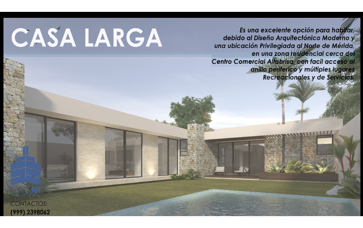 Foto de casa en venta en  , santa rita cholul, mérida, yucatán, 1489845 No. 01