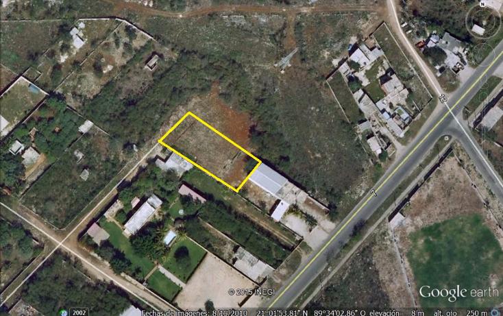 Foto de terreno habitacional en venta en  , santa rita cholul, mérida, yucatán, 1552820 No. 01
