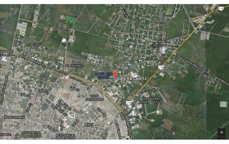 Foto de terreno habitacional en venta en  , santa rita cholul, mérida, yucatán, 1676644 No. 03