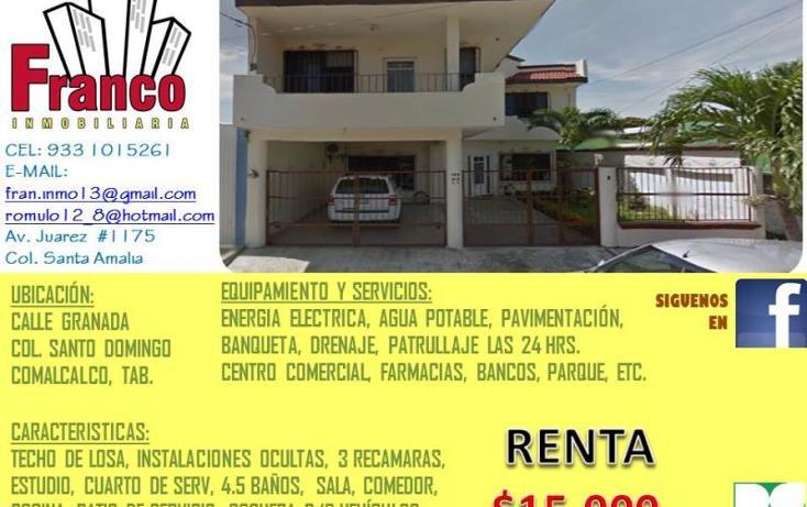 Foto de casa en renta en  , santo domingo, comalcalco, tabasco, 1181091 No. 01