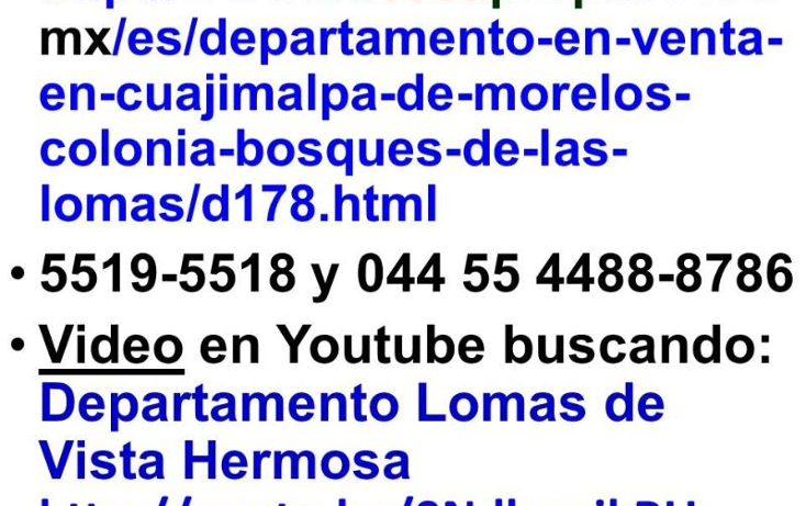 Foto de departamento en venta en secretar?a de marina 700, lomas del chamizal, cuajimalpa de morelos, distrito federal, 389669 No. 09