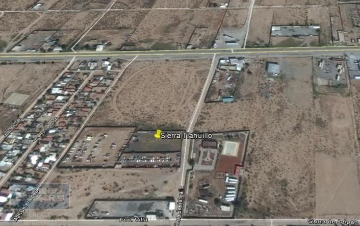Foto de terreno habitacional en venta en sierra de tlahualilo fraccion de lote , plazuela de acuña, juárez, chihuahua, 793359 No. 01