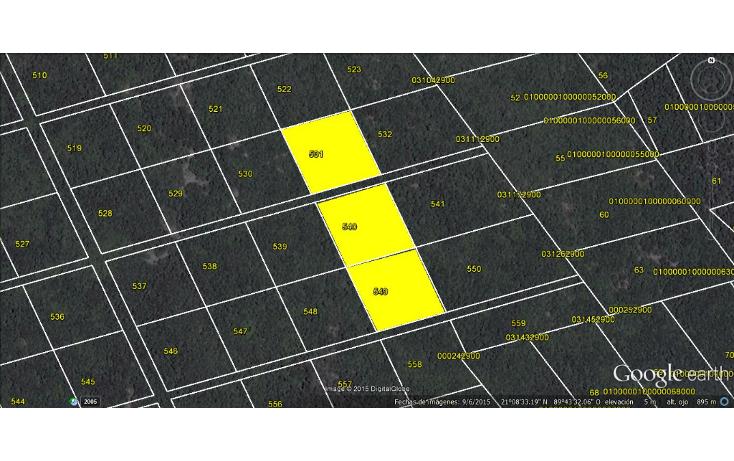 Foto de terreno habitacional en venta en  , sierra papacal, mérida, yucatán, 1550036 No. 01