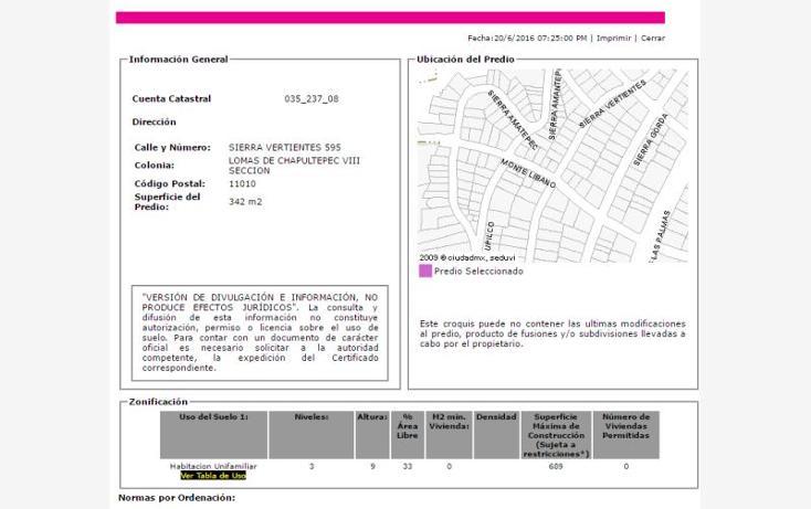 Foto de casa en venta en sierra vertientes , lomas de chapultepec ii sección, miguel hidalgo, distrito federal, 2000536 No. 03