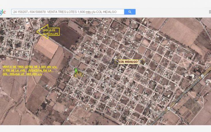 Foto de terreno habitacional en venta en sin nombre, hidalgo, durango, durango, 1415225 no 03