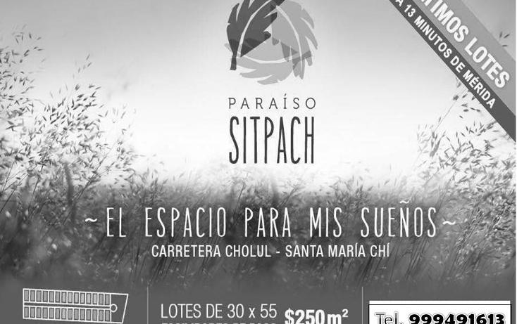 Foto de terreno habitacional en venta en  , sitpach, mérida, yucatán, 1615852 No. 01